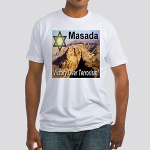Masada Victory Over Terrorism Fitted T-Shirt
