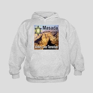 Masada Victory Over Terrorism Kids Hoodie