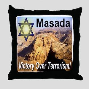 Masada Victory Over Terrorism Throw Pillow