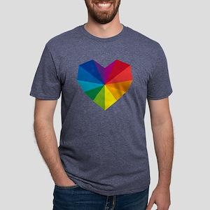 colorful geometric hear T-Shirt