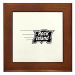 Rock Island Railroad Framed Tile