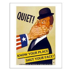 Know Your Place/Shut Your Face Poster
