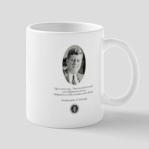 JFK QUOTE Mugs
