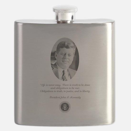 JFK QUOTE Flask