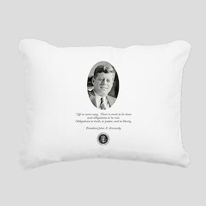 JFK QUOTE Rectangular Canvas Pillow
