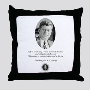 JFK QUOTE Throw Pillow