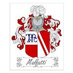 Malfatti Family Crest Small Poster