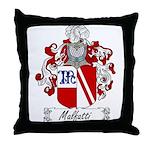 Malfatti Family Crest Throw Pillow