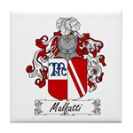 Malfatti Family Crest Tile Coaster