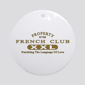 French Club Ornament (Round)