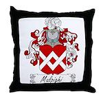 Malpighi Family Crest Throw Pillow