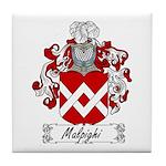 Malpighi Family Crest Tile Coaster