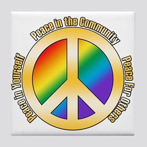 Peace In Yourself Tile Coaster