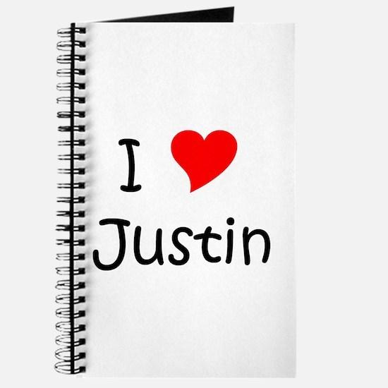Cute I love justin Journal