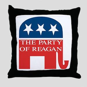 GOP: Party of Reagan Throw Pillow