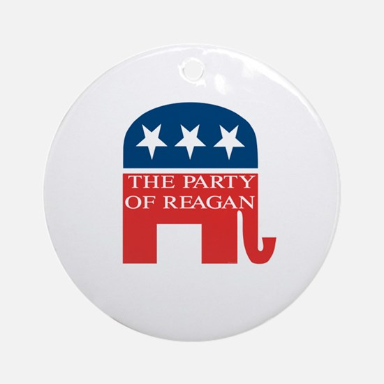 GOP: Party of Reagan Ornament (Round)