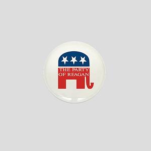 GOP: Party of Reagan Mini Button