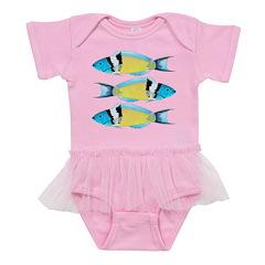 Bluehead Wrasse Baby Tutu Bodysuit