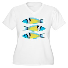 Bluehead Wrasse Plus Size T-Shirt