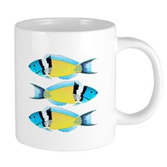 Bluehead Wrasse Mugs