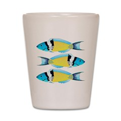 Bluehead Wrasse Shot Glass