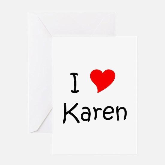 Funny Heart karen Greeting Card