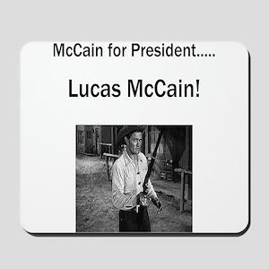 Lucas McCain for President Mousepad