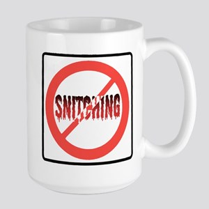 Stop Snitching Large Mug