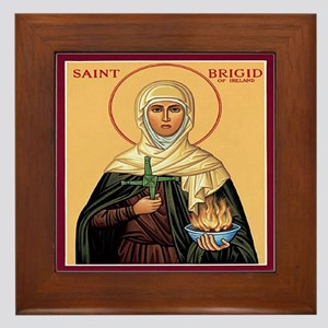St. Brigid of Ireland Framed Tile
