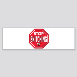 Simply Said - Stop Snitching! Bumper Sticker
