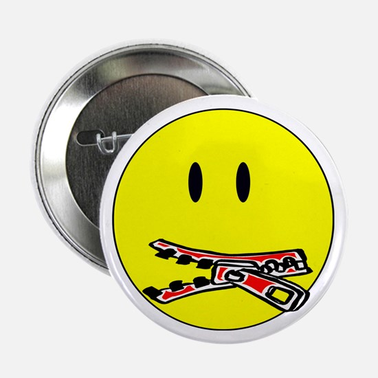 "Zip It! Stop Snitching! 2.25"" Button (10 pack)"
