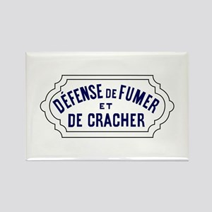 No Smoking or Spitting, France Rectangle Magnet