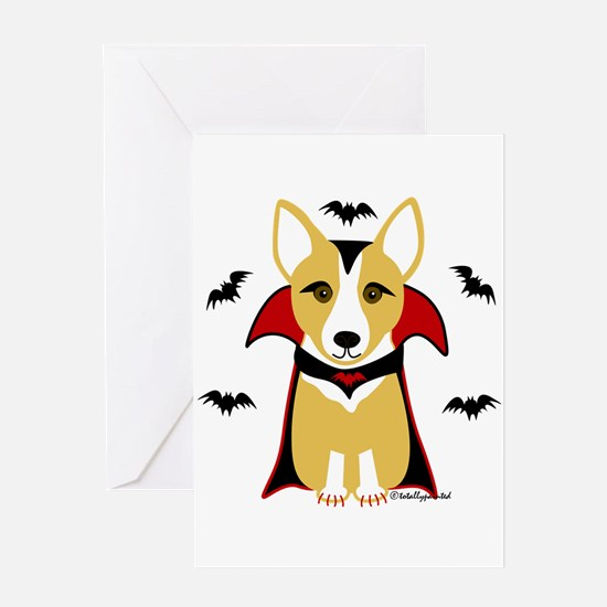 Count Corgi - Vampire Greeting Card