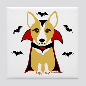 Count Corgi - Vampire Tile Coaster