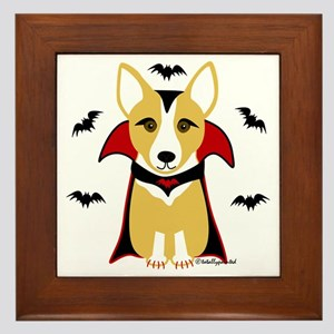 Count Corgi - Vampire Framed Tile