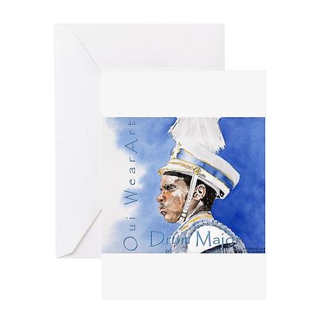 Drum Major Greeting Cards