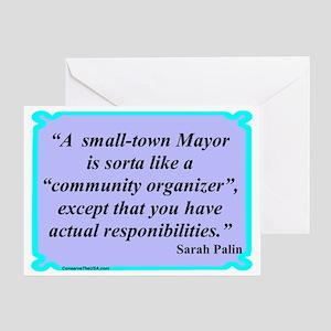 """Small Town Mayor"" Greeting Card"