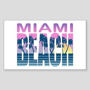 Miami Beach Rectangle Sticker