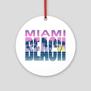 Miami Beach Ornament (Round)