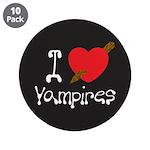 "I Love Vampires 3.5"" Button (10 pack)"