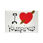 I Love Vampires Rectangle Magnet (10 pack)