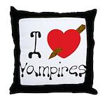 I Love Vampires Throw Pillow