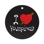 I Love Vampires Ornament (Round)