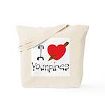 I Love Vampires Tote Bag