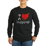 I Love Vampires Long Sleeve Dark T-Shirt