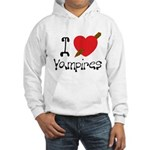 I Love Vampires Hooded Sweatshirt