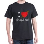 I Love Vampires Dark T-Shirt