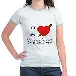 I Love Vampires Jr. Ringer T-Shirt