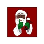 """African Santa Clause Christ Square Sticker 3"""" x 3"""""""