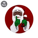 """African Santa Clause Christm 3.5"""" Button (10 pack)"""